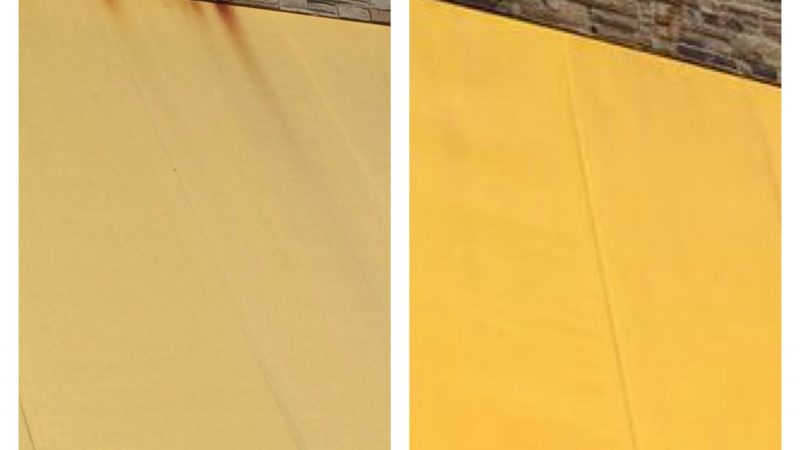 Awning Cleaning: Before and After