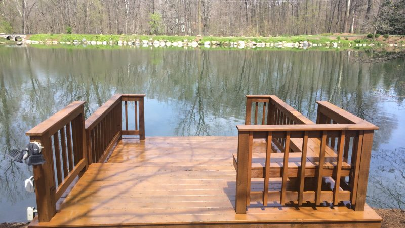 Boat Dock Staining: After