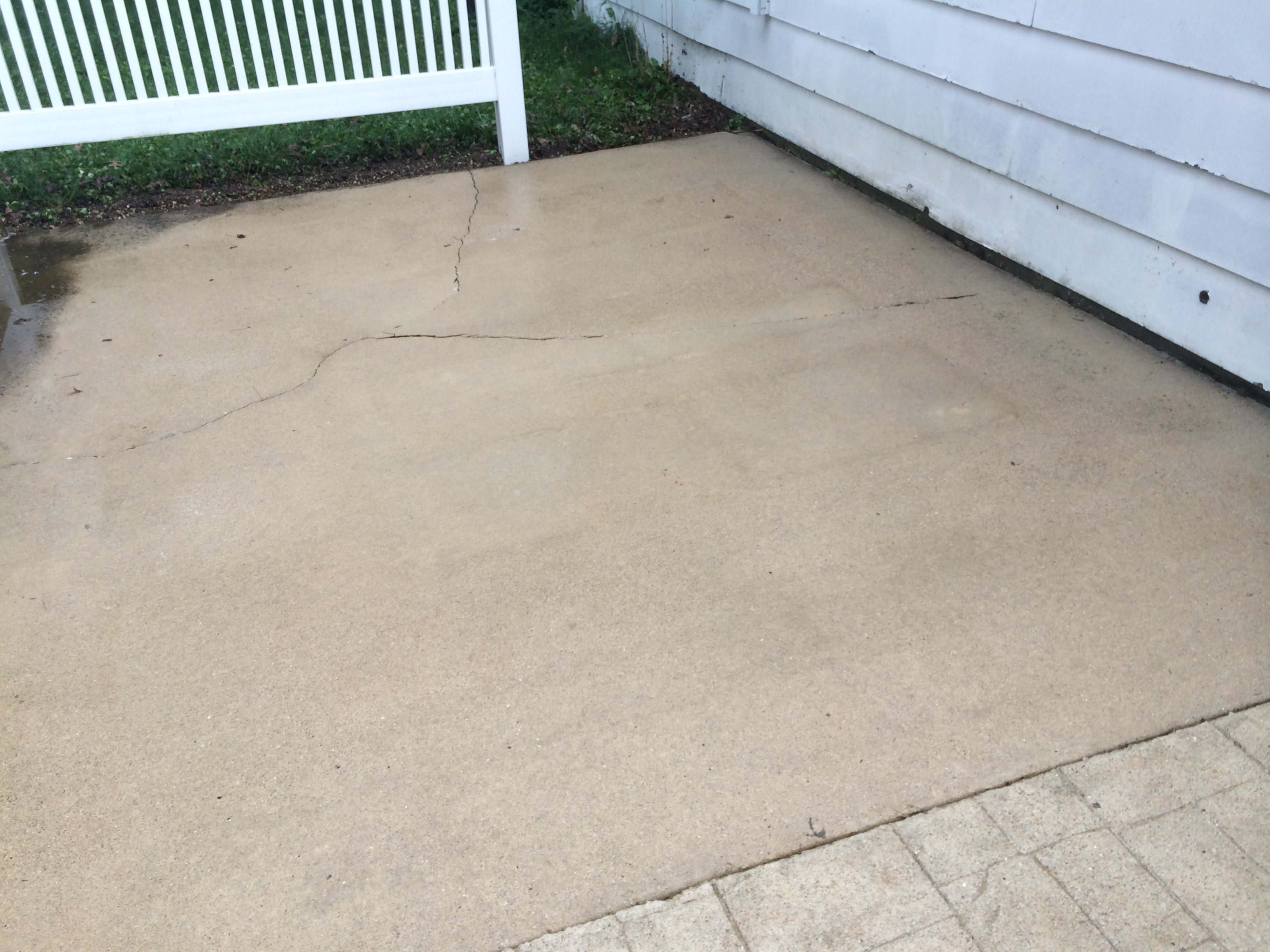 Concrete Patio Cleaning: After