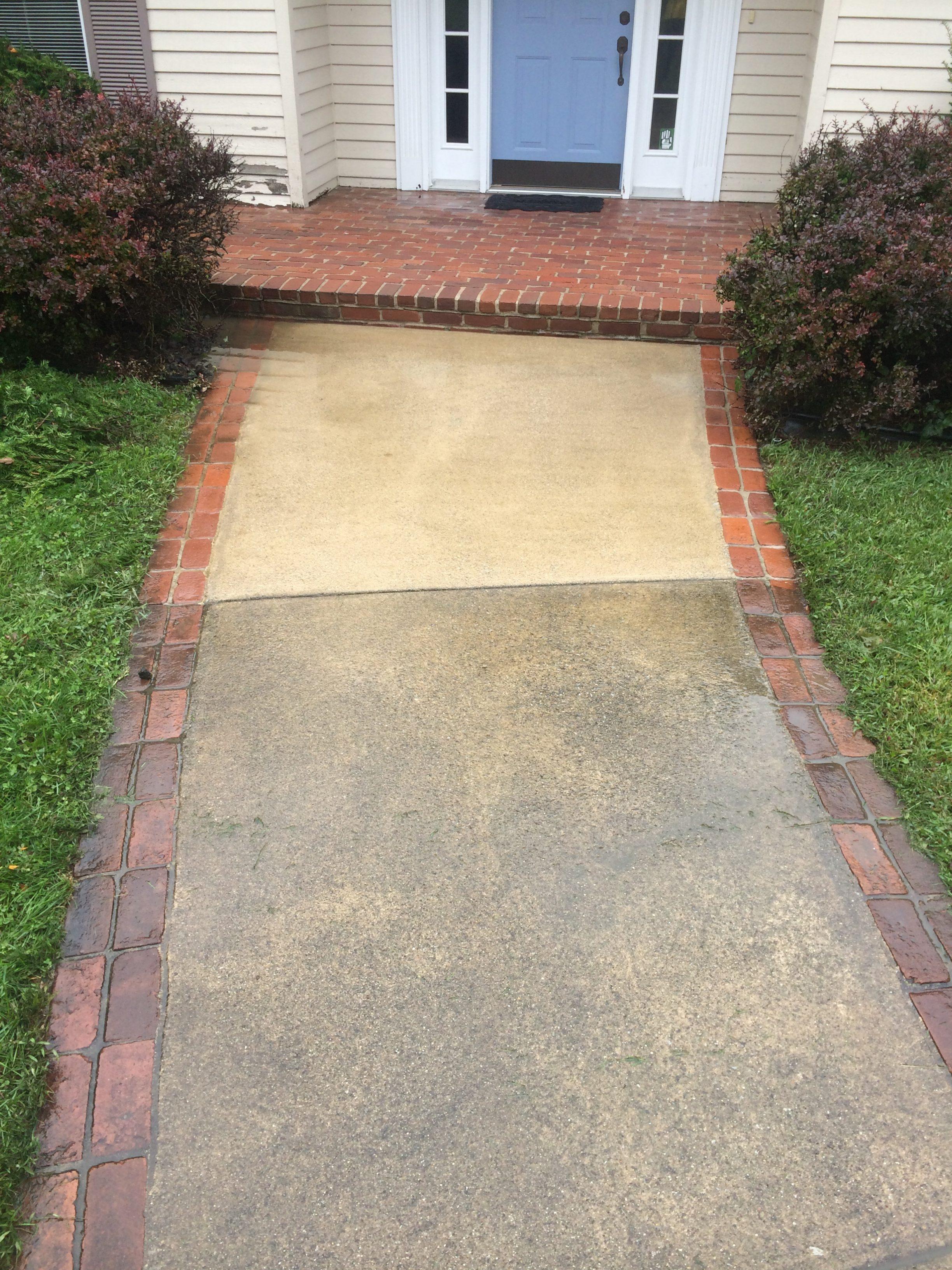 Concrete washing concrete sealing driveway sealing for Concrete sidewalk cleaner