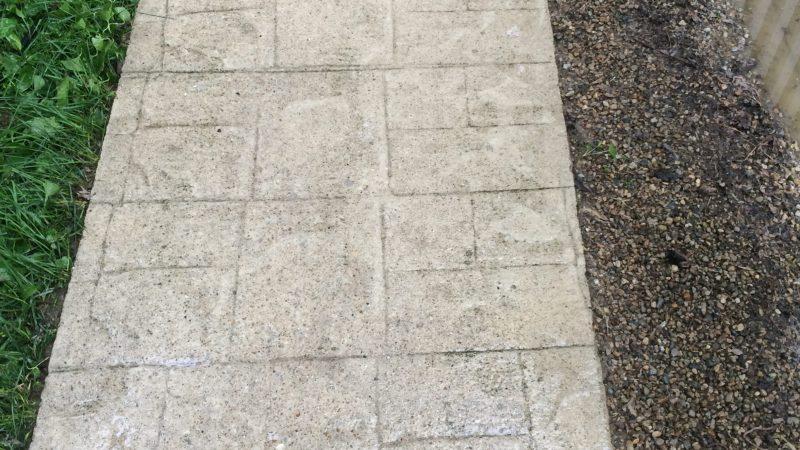 Concrete Sidewalk Washing: After