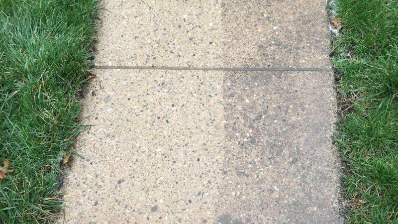 Concrete Sidwalk Washing: During