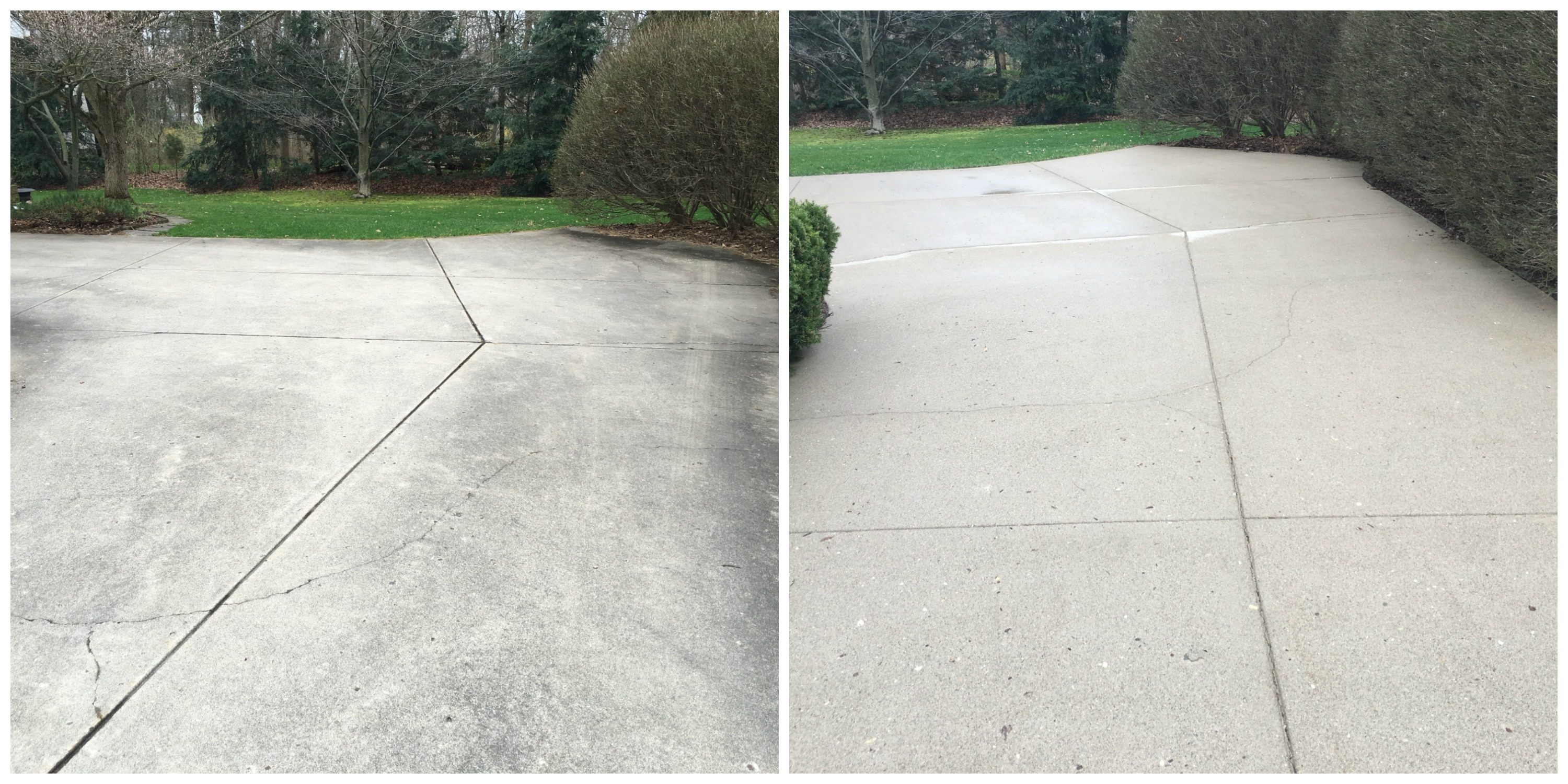 Concrete washing concrete sealing driveway sealing sidewalk concrete driveway washing before and after solutioingenieria Image collections