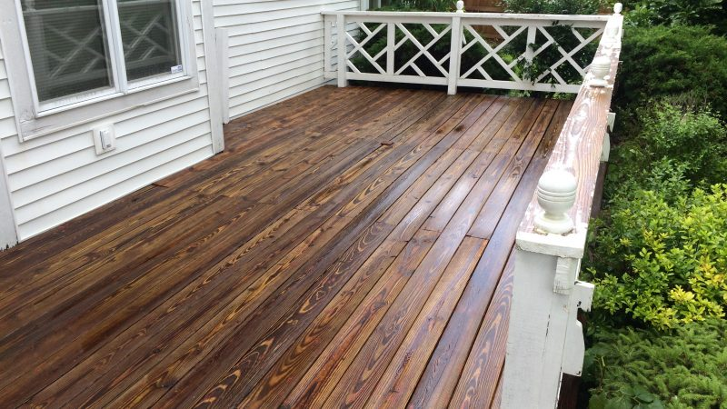 Deck Cleaning: After