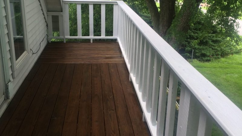 Deck Staining: After