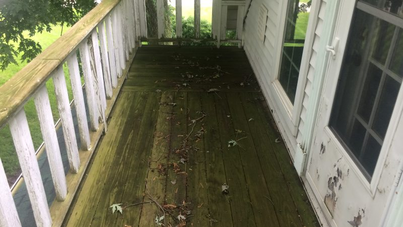 Deck Cleaning: Before