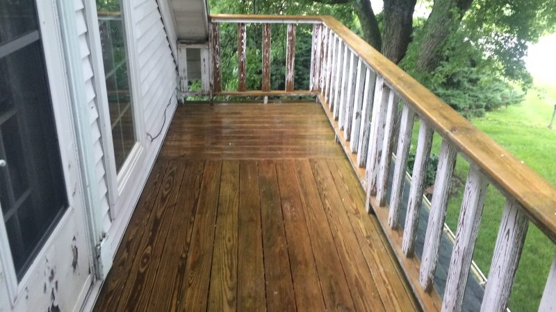 Deck Cleaning: During