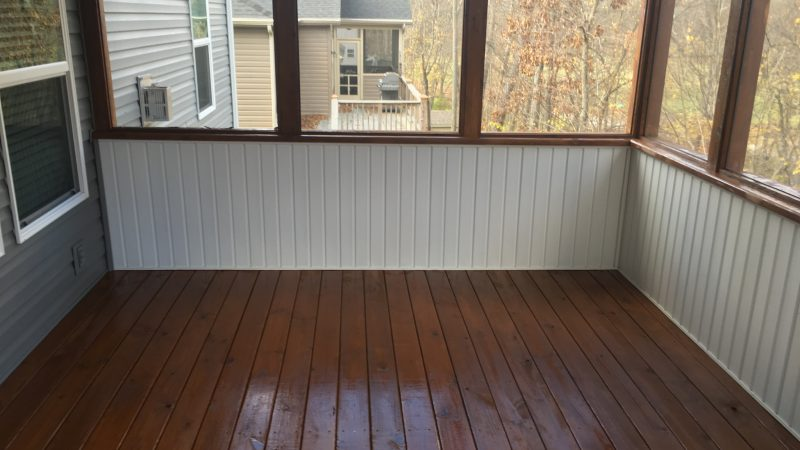 Patio Staining: After