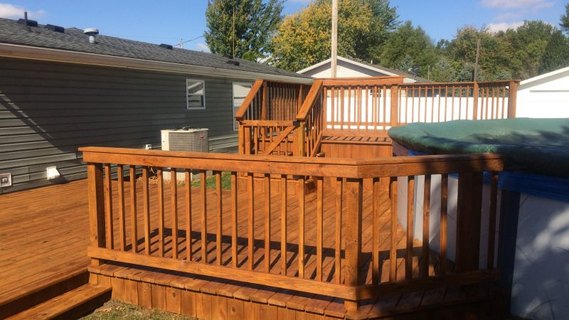 Pool Deck Staining: After