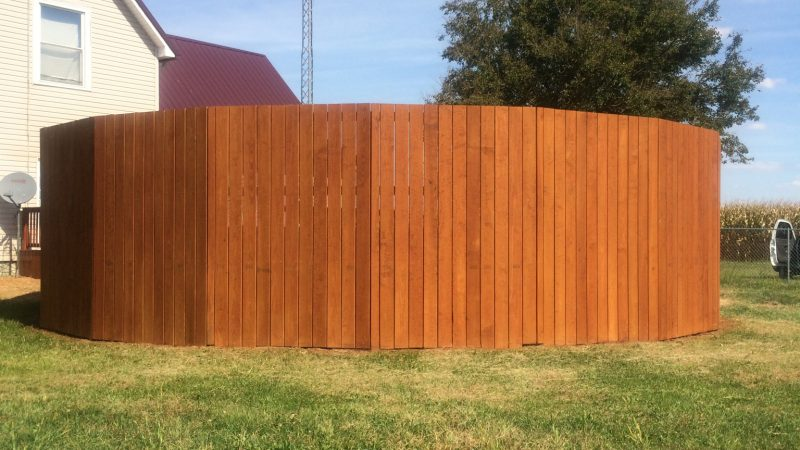 Pool Fence Staining: After