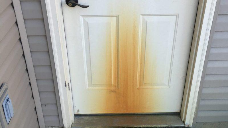 Rust Stain Door: Before