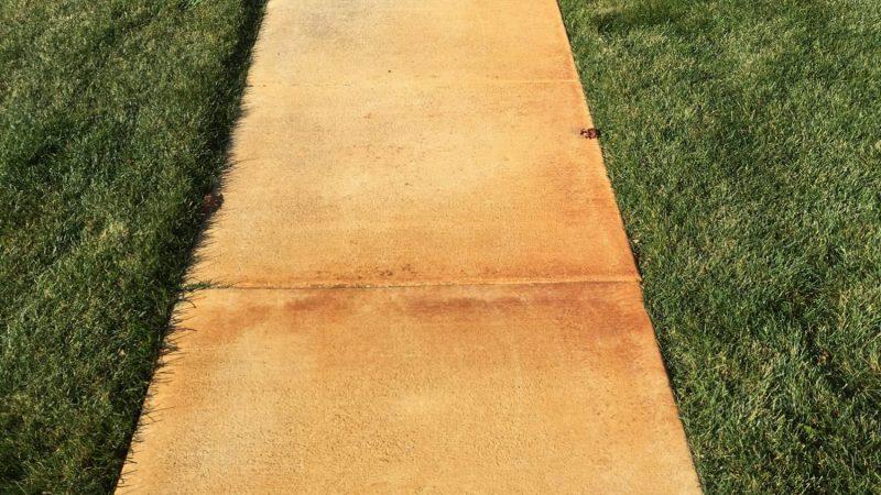Rust Stain Sidewalk: Before