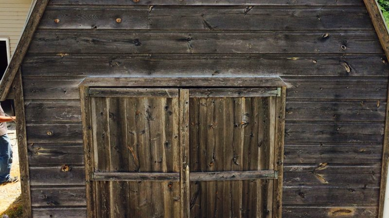 Wood Barn Staining: Before