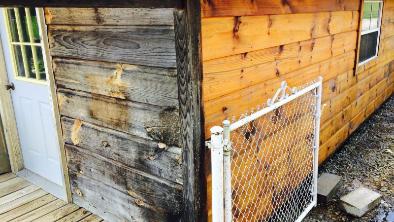Wood Barn Staining: During